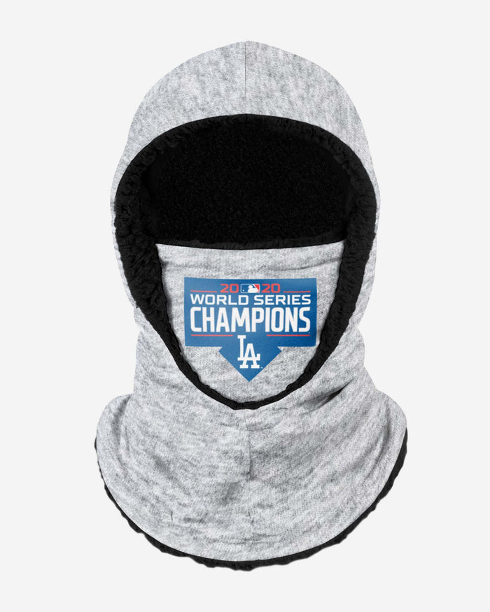 Los Angeles Dodgers 2020 World Series Champions Heather Grey Big Logo Hooded Gaiter FOCO - FOCO.com | UK & IRE