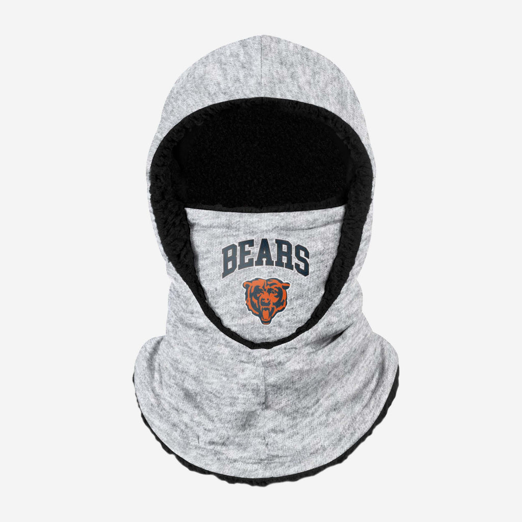 Chicago Bears Heather Grey Big Logo Hooded Snood FOCO - FOCO.com | UK & IRE