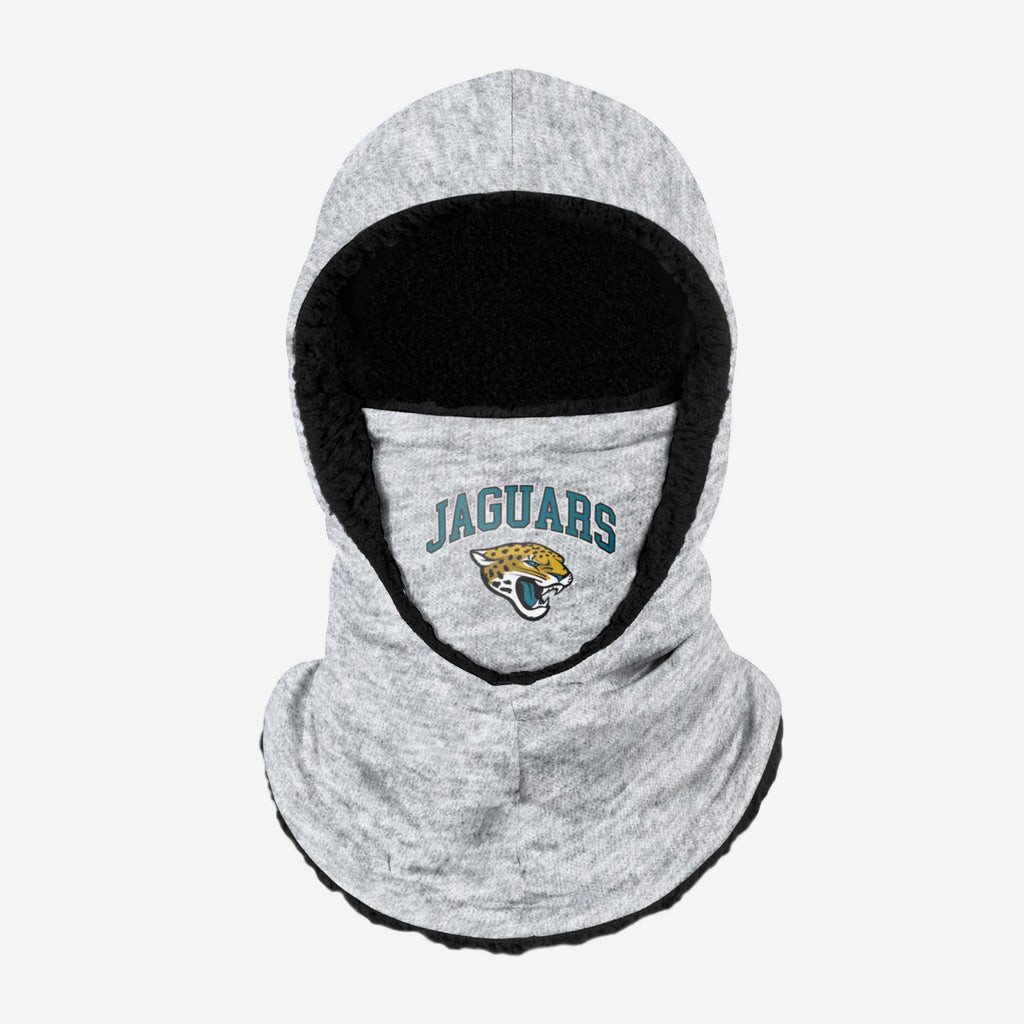 Jacksonville Jaguars Heather Grey Big Logo Hooded Snood FOCO - FOCO.com | UK & IRE