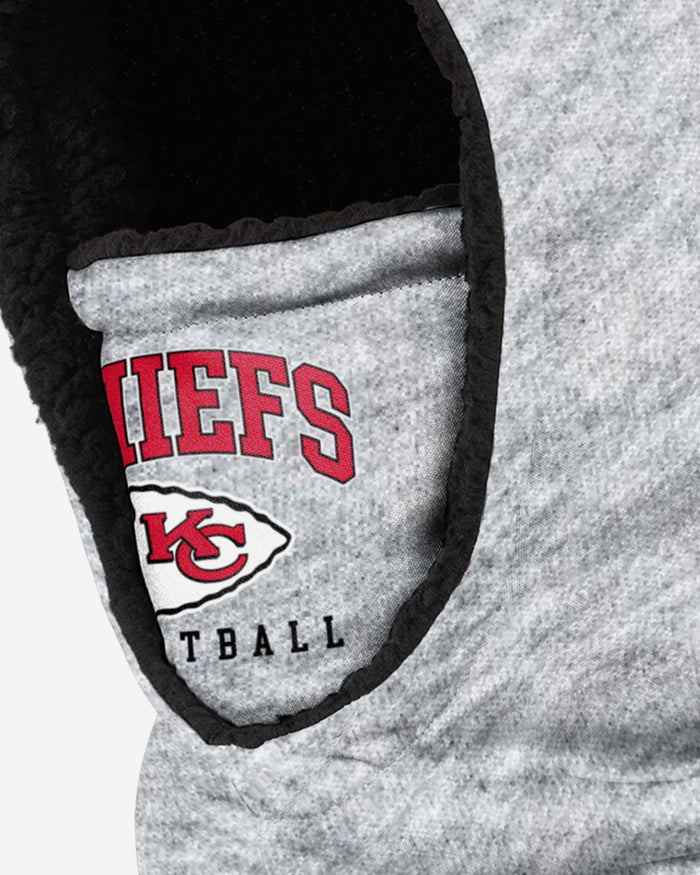Kansas City Chiefs Heather Grey Big Logo Hooded Snood FOCO - FOCO.com | UK & IRE