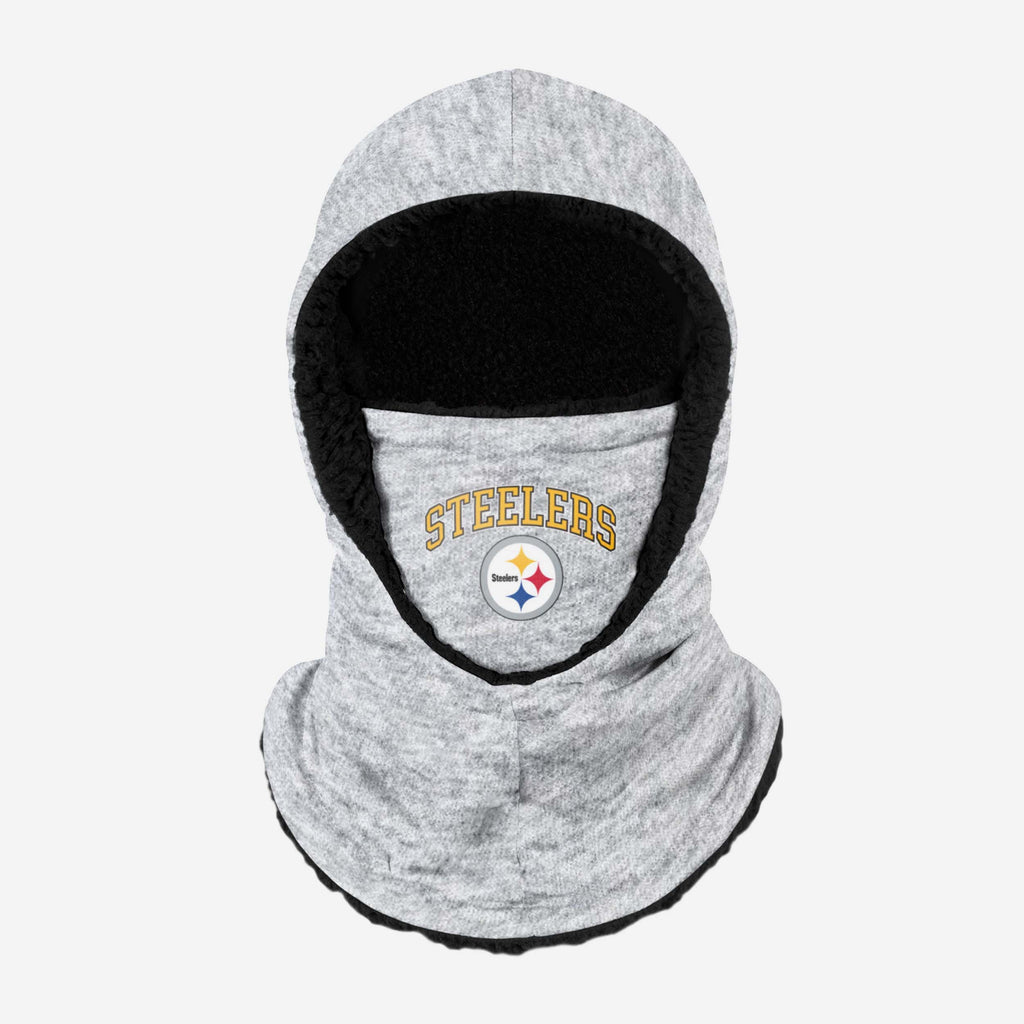 Pittsburgh Steelers Heather Grey Big Logo Hooded Snood FOCO - FOCO.com | UK & IRE