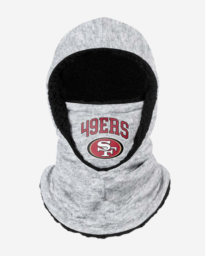 San Fransisco 49ers Heather Grey Big Logo Hooded Snood FOCO - FOCO.com | UK & IRE