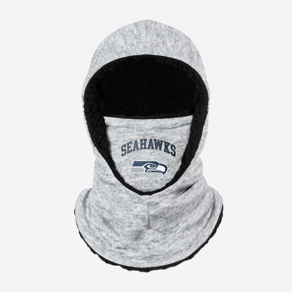 Seattle Seahawks Heather Grey Big Logo Hooded Snood FOCO - FOCO.com | UK & IRE