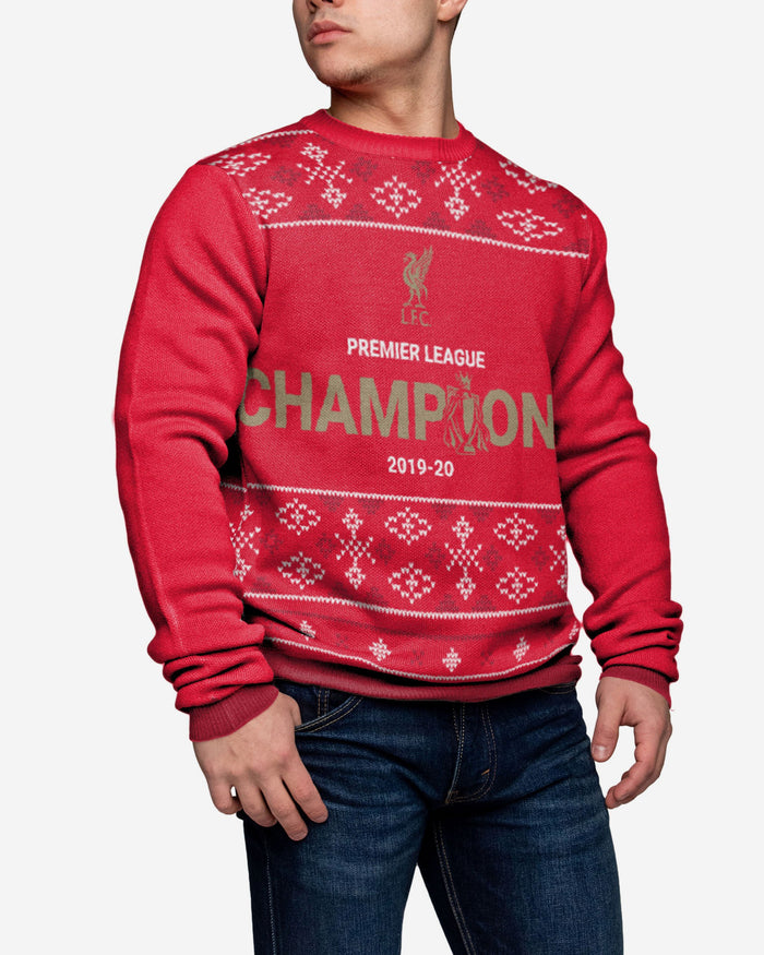 Liverpool FC 2019-20 Champions Christmas Sweater FOCO - FOCO.com | UK & IRE