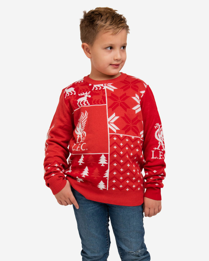 Liverpool FC Youth Christmas Sweater FOCO S - FOCO.com | UK & IRE