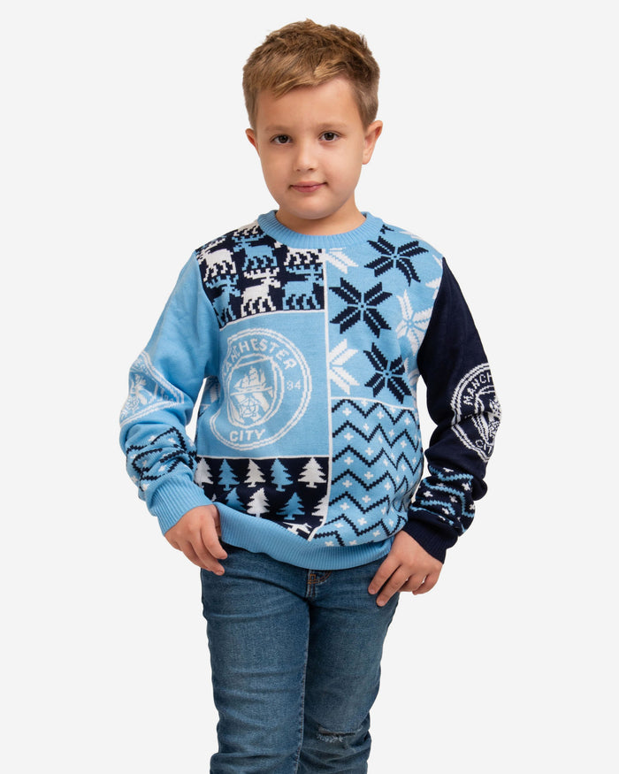 Manchester City FC Youth Christmas Sweater FOCO S - FOCO.com | UK & IRE
