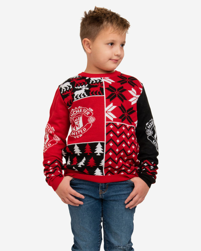 Manchester United FC Youth Christmas Sweater FOCO S - FOCO.com | UK & IRE