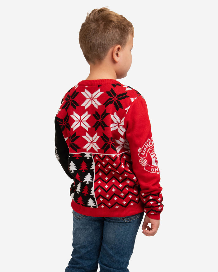 Manchester United FC Youth Christmas Sweater FOCO - FOCO.com | UK & IRE