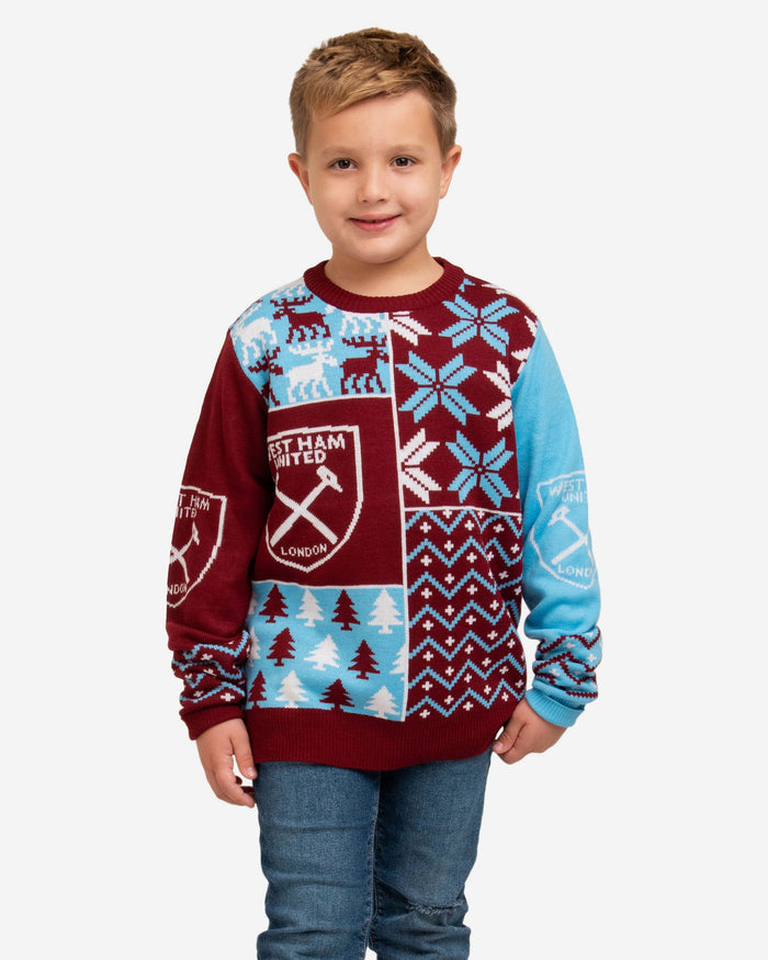 West Ham United FC Youth Christmas Sweater FOCO S - FOCO.com | UK & IRE