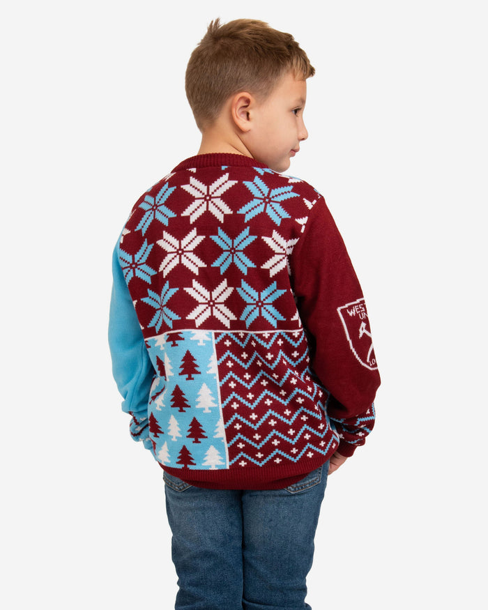 West Ham United FC Youth Christmas Sweater FOCO - FOCO.com | UK & IRE