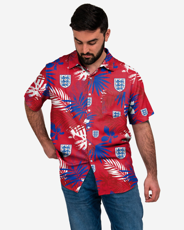 England Floral Button Up Shirt FOCO S - FOCO.com | UK & IRE
