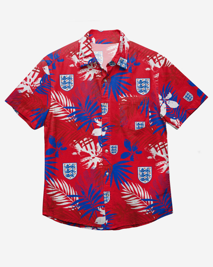 England Floral Button Up Shirt FOCO - FOCO.com | UK & IRE