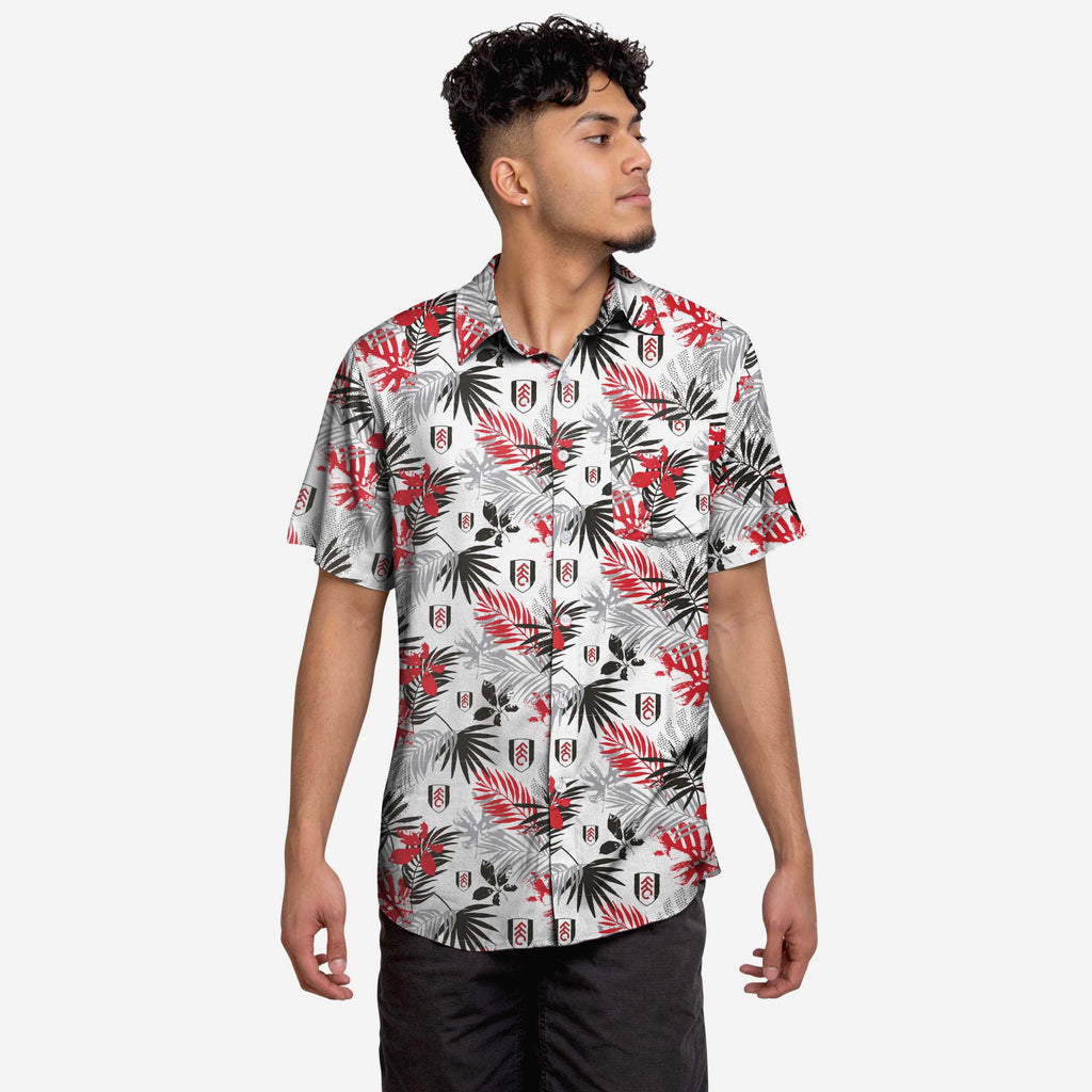 Fulham FC Floral Button Up Shirt FOCO S - FOCO.com | UK & IRE