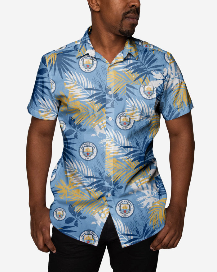 Manchester City FC Mens Floral Button Up Shirt FOCO - FOCO.com | UK & IRE