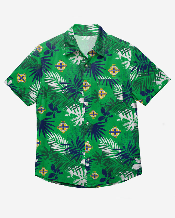 Northern Ireland Floral Button Up Shirt FOCO - FOCO.com | UK & IRE