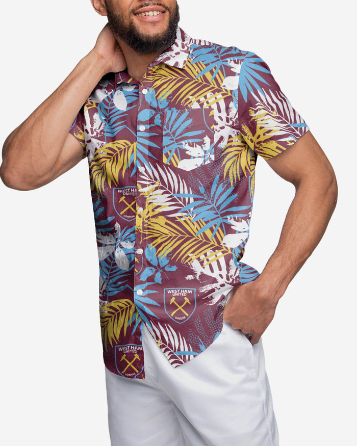 West Ham United FC Mens Floral Button Up Shirt FOCO - FOCO.com | UK & IRE