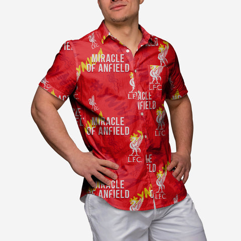 Liverpool FC Miracle Of Anfield Button Up Shirt