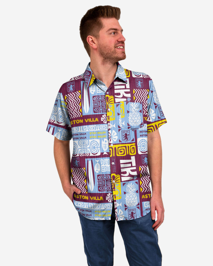 Aston Villa FC Tiki Button Up Shirt FOCO S - FOCO.com | UK & IRE
