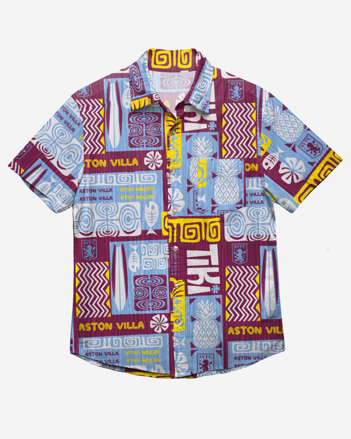Aston Villa FC Tiki Button Up Shirt FOCO - FOCO.com | UK & IRE