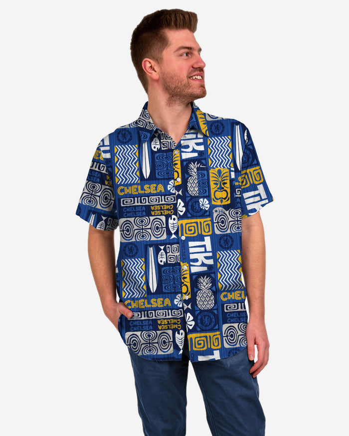 Chelsea FC Tiki Button Up Shirt FOCO S - FOCO.com | UK & IRE