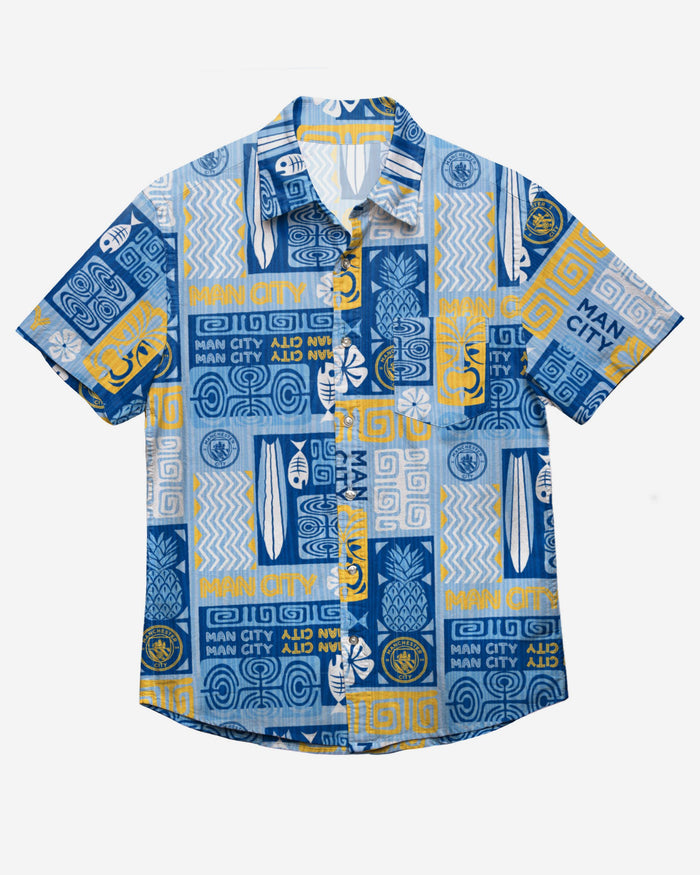 Manchester City FC Tiki Button Up Shirt FOCO - FOCO.com | UK & IRE