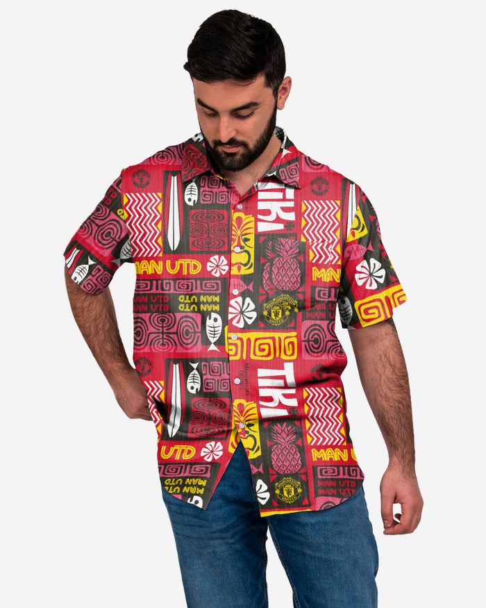 Manchester United FC Tiki Button Up Shirt FOCO S - FOCO.com | UK & IRE