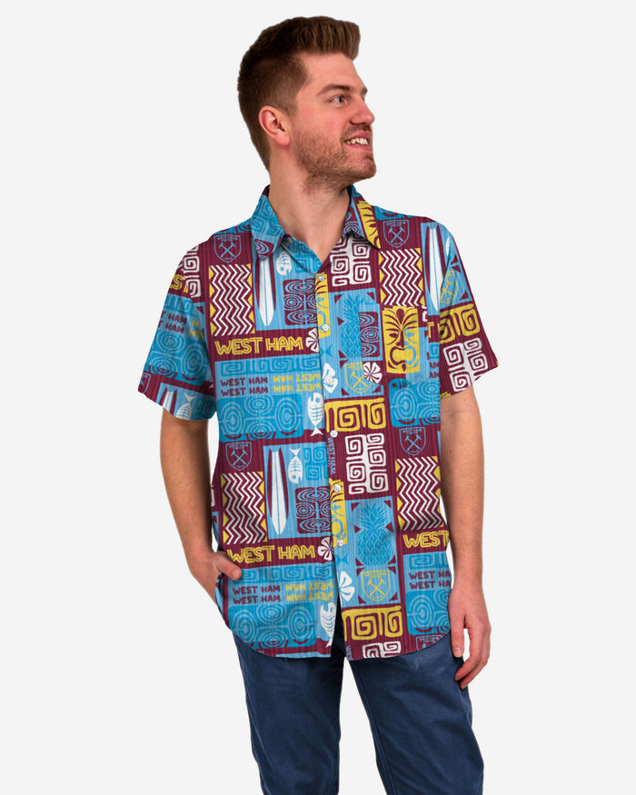 West Ham United FC Tiki Button Up Shirt FOCO S - FOCO.com | UK & IRE