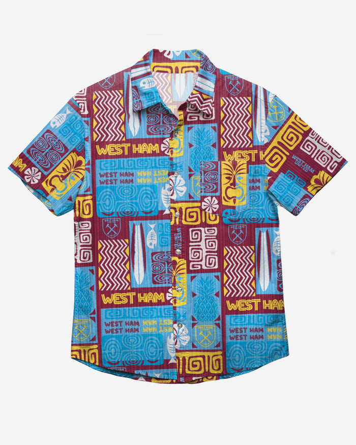 West Ham United FC Tiki Button Up Shirt FOCO - FOCO.com | UK & IRE