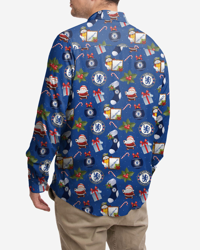 Chelsea FC Long Sleeve Christmas Shirt FOCO - FOCO.com | UK & IRE