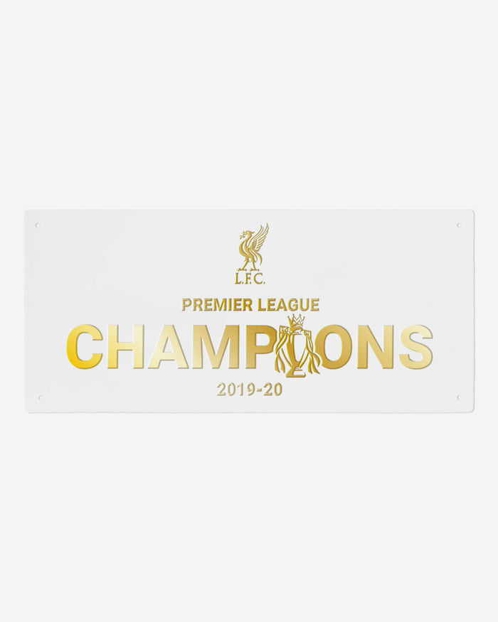 Liverpool FC 2019-20 Champions White & Gold Street Sign FOCO - FOCO.com | UK & IRE