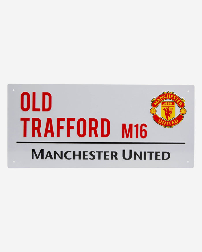 Manchester United FC White Street Sign FOCO - FOCO.com | UK & IRE