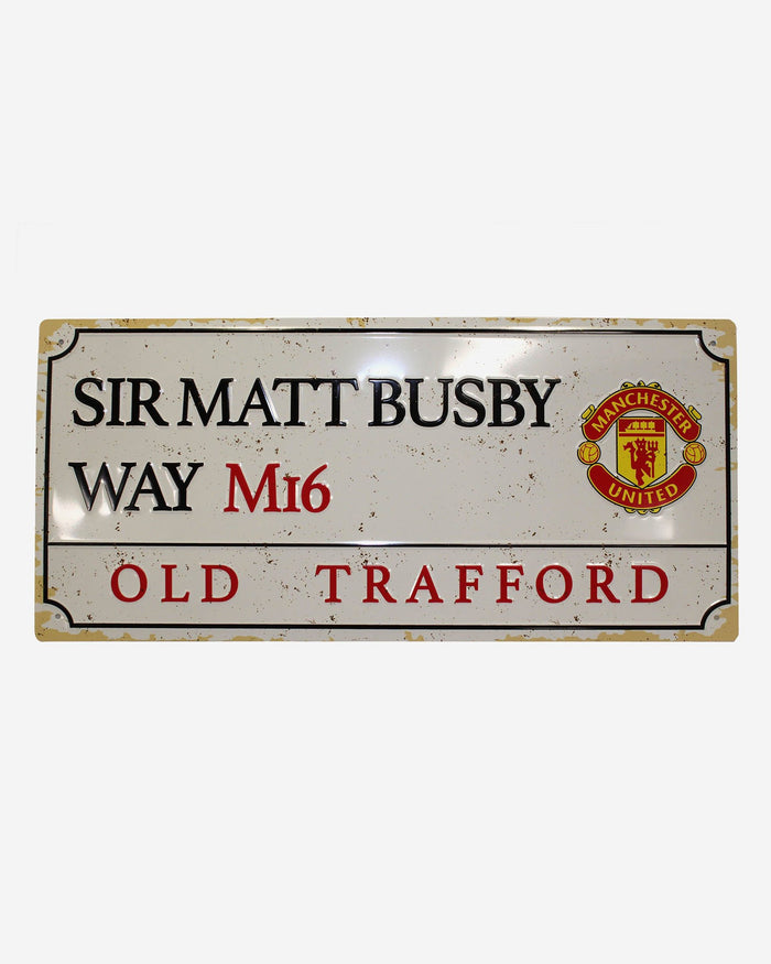 Manchester United FC Retro Street Sign FOCO - FOCO.com | UK & IRE