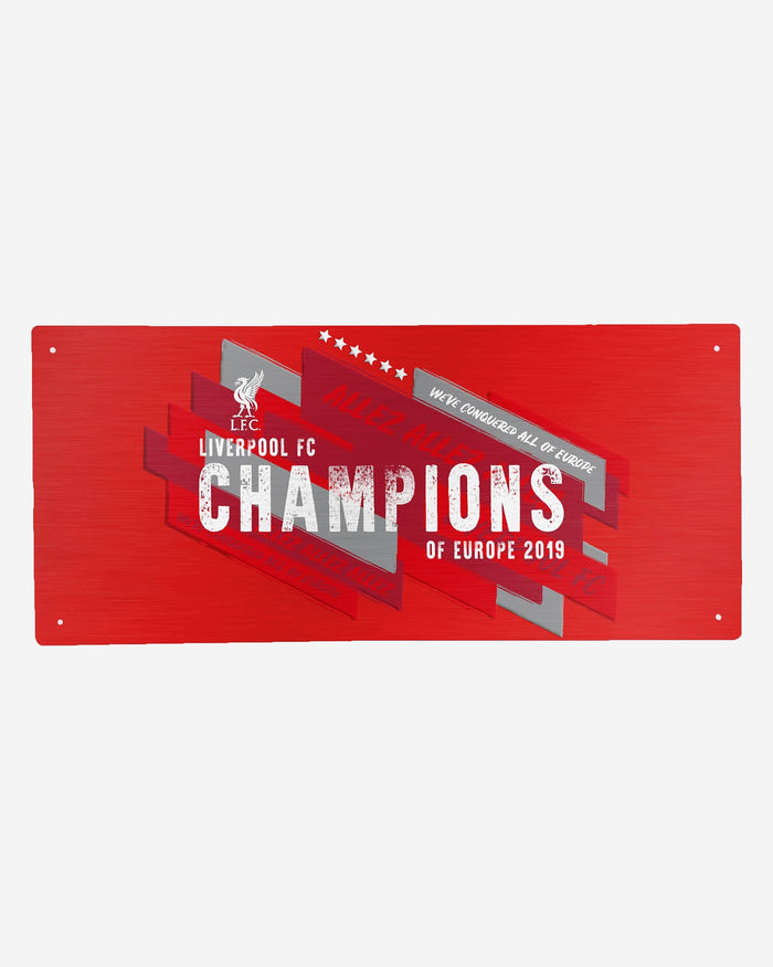 Liverpool FC 2018-19 Champions Red Street Sign FOCO - FOCO.com | UK & IRE