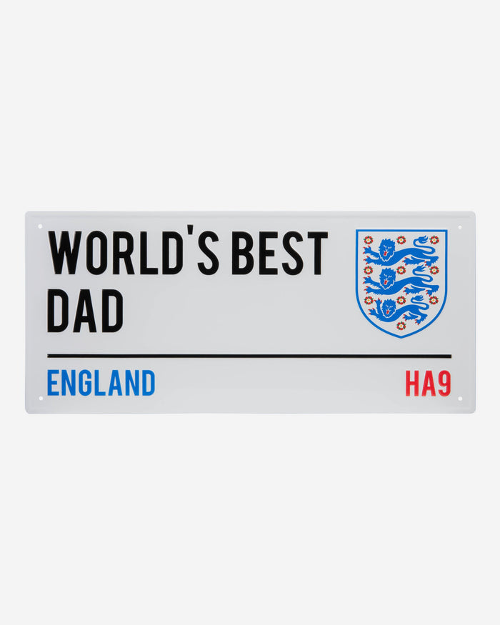 England Worlds Best Dad Street Sign FOCO - FOCO.com | UK & IRE