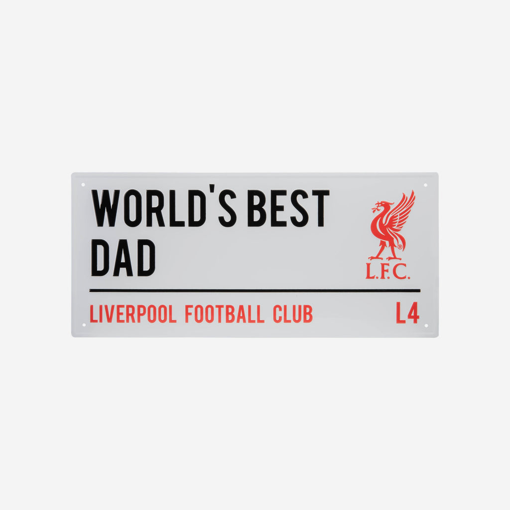 Liverpool FC Worlds Best Dad Street Sign FOCO - FOCO.com | UK & IRE