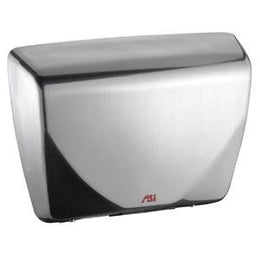 ASI 0184 Sensor Hand Dryer With Steel Cover and Porcelain Finish 277 Volt