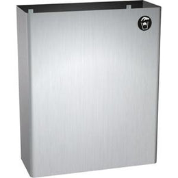 Surface Mounted Waste Receptacle Stainless Steel 6.7 Gallon