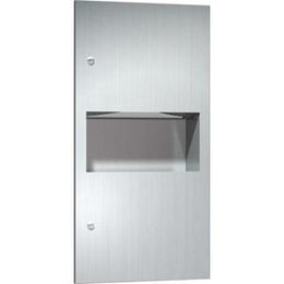 Recessed Paper Towel Dispenser And Waste Receptacle
