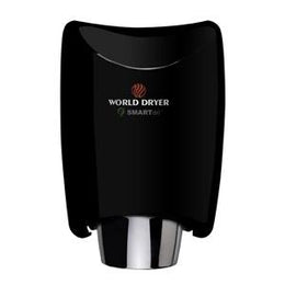 World Dryer SMARTdri K-162 Automatic Hand Dryer Multi Port  Aluminum Black Finish