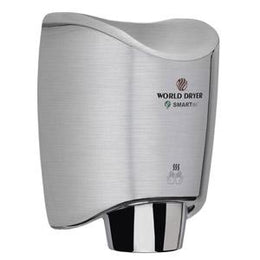 World Dryer SMARTdri K-971 Automatic Hand Dryer Multi Port  Aluminum Brushed Chrome Finish