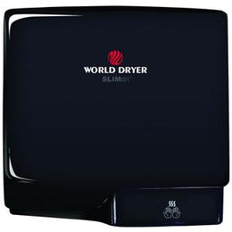 Slimdri World Dryer L-162 High Speed ADA Compliant Automatic Hand Dryer Black Aluminum Finish