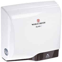 Slimdri  World Dryer L-974 High Speed ADA Compliant Automatic Hand Dryer Aluminum White Finish