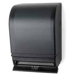 Auto-Transfer Push Bar Roll Towel Dispenser  - Black Translucent - TD0215-02