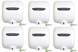Xlerator XL-BW Eco Hand Dryers - White - 6 Dryers