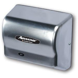 American Dryer Advantage Series Hand Dryer AD90 Steel Satin Chrome