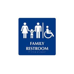 ADA Family Accessible Restroom Sign With Braille