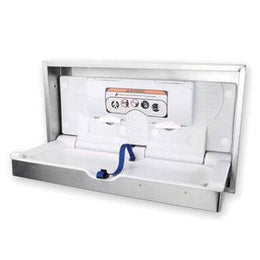 Foundations Baby Changing Station  Stainless Clad Horizontal Mount