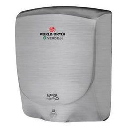 World Dryer VERDEdri Q-973A  High Speed - Automatic Hand Dryer - Brushed Steel - Meets ADA