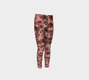 Poppies and Pink Kids' Leggings