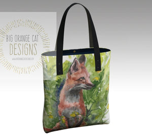 Red Fox Elegant Lined Handbag